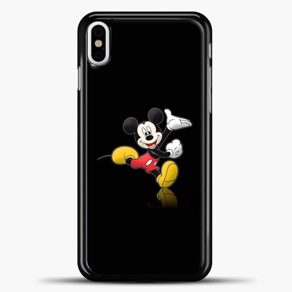 Mickey Mouse Happines iPhone X Case, Black Plastic Case | casedilegna.com