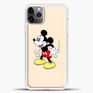 Mickey Mouse Is Seeing iPhone 11 Pro Max Case, White Plastic Case | casedilegna.com