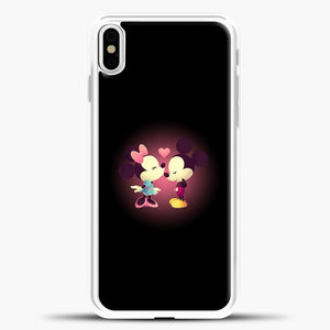Mickey Mouse Pink Love iPhone X Case, White Plastic Case | casedilegna.com