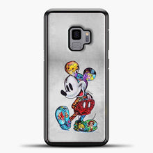 Load image into Gallery viewer, Mickey Mouse Vintage Beutiful Samsung Galaxy S9 Case, Black Plastic Case | casedilegna.com