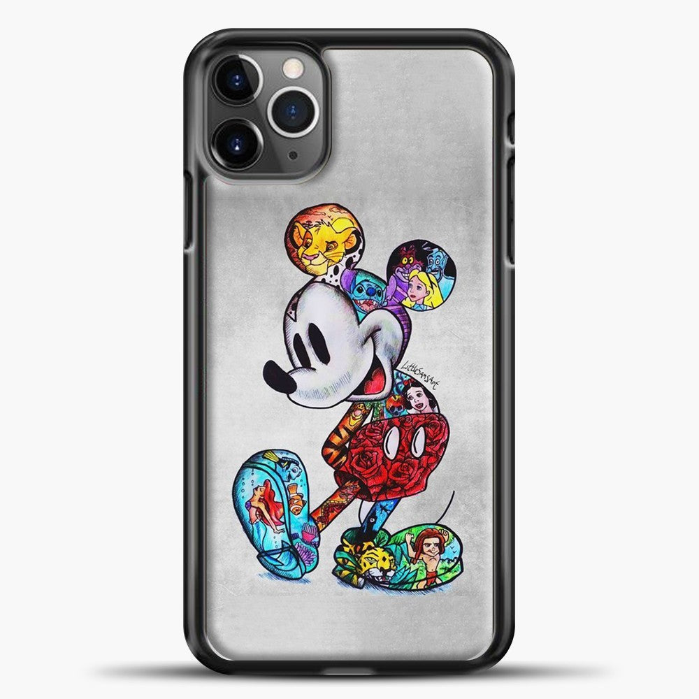Mickey Mouse Vintage Beutiful iPhone 11 Pro Max Case, Black Plastic Case | casedilegna.com