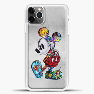 Mickey Mouse Vintage Beutiful iPhone 11 Pro Max Case, White Plastic Case | casedilegna.com