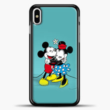 Load image into Gallery viewer, Mickey Mouse Vintage Hugging iPhone X Case, Black Plastic Case | casedilegna.com