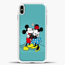 Load image into Gallery viewer, Mickey Mouse Vintage Hugging iPhone X Case, White Plastic Case | casedilegna.com