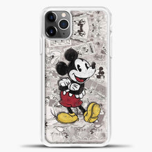 Load image into Gallery viewer, Mickey Mouse Vintage Many Magazines iPhone 11 Pro Max Case, White Plastic Case | casedilegna.com
