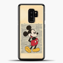 Load image into Gallery viewer, Mickey Mouse Vintage Newspaper Background Samsung Galaxy S9 Plus Case, Black Plastic Case | casedilegna.com