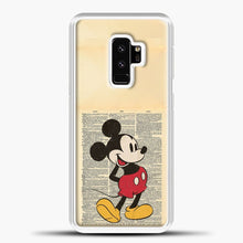 Load image into Gallery viewer, Mickey Mouse Vintage Newspaper Background Samsung Galaxy S9 Plus Case, White Plastic Case | casedilegna.com
