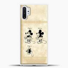 Load image into Gallery viewer, Mickey Mouse Vintage Paper Background Samsung Galaxy Note 10 Plus Case, White Plastic Case | casedilegna.com