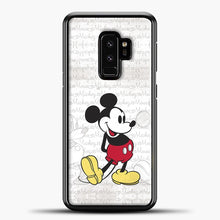 Load image into Gallery viewer, Mickey Mouse Vintage Quotes Samsung Galaxy S9 Plus Case, Black Plastic Case | casedilegna.com