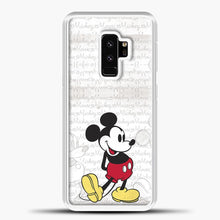 Load image into Gallery viewer, Mickey Mouse Vintage Quotes Samsung Galaxy S9 Plus Case, White Plastic Case | casedilegna.com