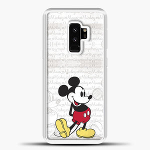 Mickey Mouse Vintage Quotes Samsung Galaxy S9 Plus Case, White Plastic Case | casedilegna.com