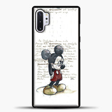 Load image into Gallery viewer, Mickey Mouse Vintage Quotes White Bcakground Samsung Galaxy Note 10 Plus Case, Black Plastic Case | casedilegna.com