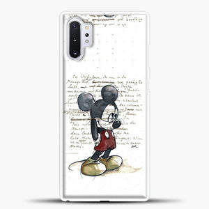 Mickey Mouse Vintage Quotes White Bcakground Samsung Galaxy Note 10 Plus Case, White Plastic Case | casedilegna.com