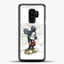 Load image into Gallery viewer, Mickey Mouse Vintage Quotes White Bcakground Samsung Galaxy S9 Plus Case, Black Plastic Case | casedilegna.com
