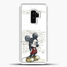 Load image into Gallery viewer, Mickey Mouse Vintage Quotes White Bcakground Samsung Galaxy S9 Plus Case, White Plastic Case | casedilegna.com