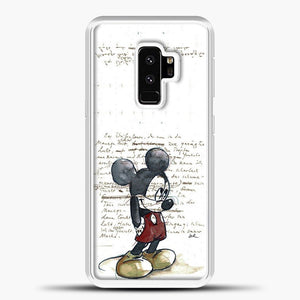 Mickey Mouse Vintage Quotes White Bcakground Samsung Galaxy S9 Plus Case, White Plastic Case | casedilegna.com