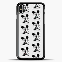 Load image into Gallery viewer, Mickey Mouse Vintage Relaxed iPhone X Case, Black Plastic Case | casedilegna.com