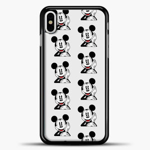 Mickey Mouse Vintage Relaxed iPhone X Case, Black Plastic Case | casedilegna.com