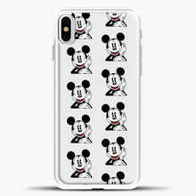 Load image into Gallery viewer, Mickey Mouse Vintage Relaxed iPhone X Case, White Plastic Case | casedilegna.com