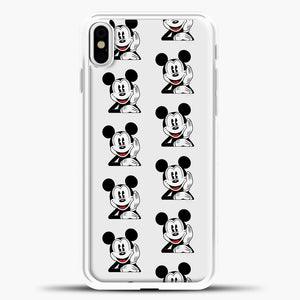 Mickey Mouse Vintage Relaxed iPhone X Case, White Plastic Case | casedilegna.com