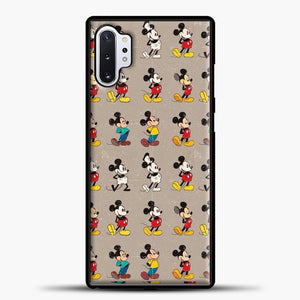 Mickey Mouse Vintage Some Imahe Samsung Galaxy Note 10 Plus Case, Black Plastic Case | casedilegna.com