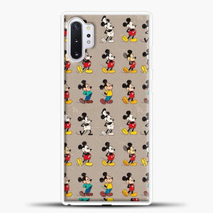 Mickey Mouse Vintage Some Imahe Samsung Galaxy Note 10 Plus Case, White Plastic Case | casedilegna.com