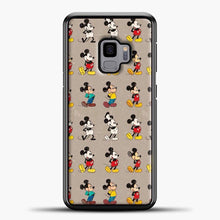 Load image into Gallery viewer, Mickey Mouse Vintage Some Imahe Samsung Galaxy S9 Case, Black Plastic Case | casedilegna.com