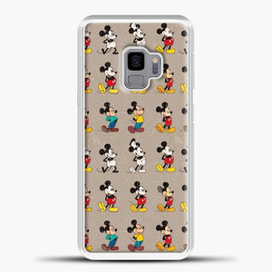 Mickey Mouse Vintage Some Imahe Samsung Galaxy S9 Case, White Plastic Case | casedilegna.com