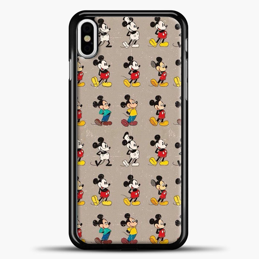 Mickey Mouse Vintage Some Imahe iPhone X Case, Black Plastic Case | casedilegna.com