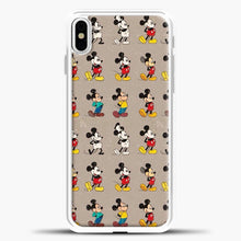 Load image into Gallery viewer, Mickey Mouse Vintage Some Imahe iPhone X Case, White Plastic Case | casedilegna.com