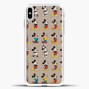 Mickey Mouse Vintage Some Imahe iPhone X Case, White Plastic Case | casedilegna.com