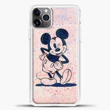Load image into Gallery viewer, Mickey Mouse Vintage Splash Background iPhone 11 Pro Max Case, White Plastic Case | casedilegna.com