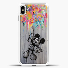 Load image into Gallery viewer, Mickey Mouse Vintage Splash Ballon iPhone X Case, White Plastic Case | casedilegna.com