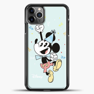 Mickey Mouse Vintage To Wear Hat Birthday iPhone 11 Pro Max Case, Black Plastic Case | casedilegna.com