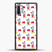 Load image into Gallery viewer, Mickey Mouse Vintage White Background Samsung Galaxy Note 10 Plus Case, Black Plastic Case | casedilegna.com