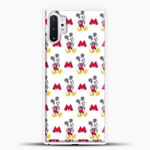 Mickey Mouse Vintage White Background Samsung Galaxy Note 10 Plus Case, White Plastic Case | casedilegna.com