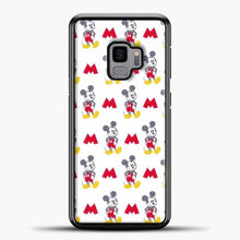 Load image into Gallery viewer, Mickey Mouse Vintage White Background Samsung Galaxy S9 Case, Black Plastic Case | casedilegna.com