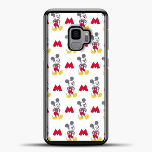 Mickey Mouse Vintage White Background Samsung Galaxy S9 Case, Black Plastic Case | casedilegna.com
