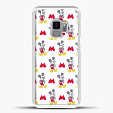 Load image into Gallery viewer, Mickey Mouse Vintage White Background Samsung Galaxy S9 Case, White Plastic Case | casedilegna.com