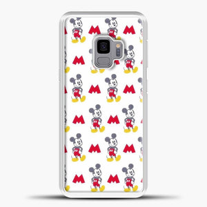 Mickey Mouse Vintage White Background Samsung Galaxy S9 Case, White Plastic Case | casedilegna.com
