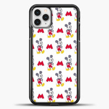 Load image into Gallery viewer, Mickey Mouse Vintage White Background iPhone 11 Pro Case, Black Plastic Case | casedilegna.com