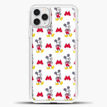 Load image into Gallery viewer, Mickey Mouse Vintage White Background iPhone 11 Pro Case, White Plastic Case | casedilegna.com