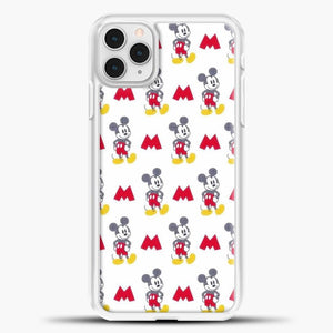 Mickey Mouse Vintage White Background iPhone 11 Pro Case, White Plastic Case | casedilegna.com