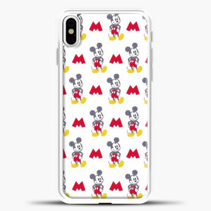 Mickey Mouse Vintage White Background iPhone X Case, White Plastic Case | casedilegna.com