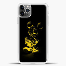 Load image into Gallery viewer, Mickey Mouse Yellow Sketch iPhone 11 Pro Max Case, White Plastic Case | casedilegna.com
