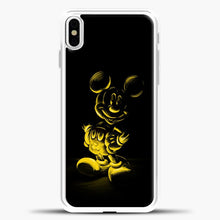 Load image into Gallery viewer, Mickey Mouse Yellow Sketch iPhone X Case, White Plastic Case | casedilegna.com