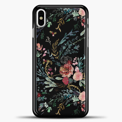 Midnight Floral iPhone Case, Black Plastic Case | casedilegna.com