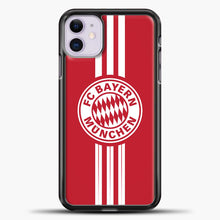 Load image into Gallery viewer, Munchen Bayern Munich Line Munchen Bayern Munich iPhone 11 Case, Black Plastic Case | casedilegna.com