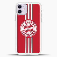 Load image into Gallery viewer, Munchen Bayern Munich Line Munchen Bayern Munich iPhone 11 Case, White Plastic Case | casedilegna.com