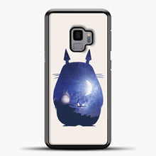 Load image into Gallery viewer, My Neighbour Totoro Blue Moon Samsung Galaxy S9 Case, Black Plastic Case | casedilegna.com